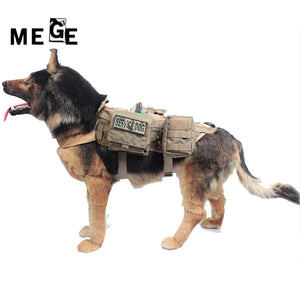 Tactical Dog Training Vest Harness Military Load Bearing Hunting SWAT - lovethepup