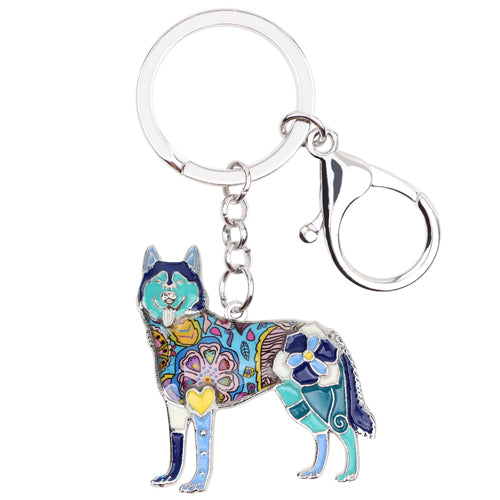 Siberian Husky Dog Key Chain - lovethepup