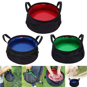 Large (11 Cup) Collapsible Outdoor Water Basin Lightweight and Durable - lovethepup