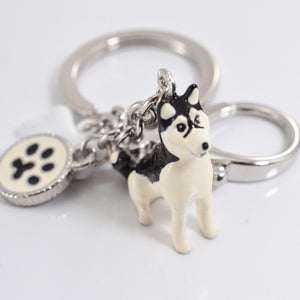 3d Hand-painted Dog Key Ring Various Breeds to choose from! - lovethepup