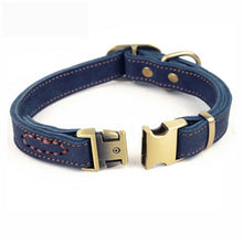 Small and Medium Leather Dog Collar - lovethepup