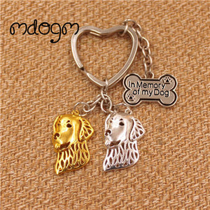 Golden Retriever Gold or Silver Plated Pendant Keychain - lovethepup