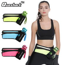 Women Men Marathon Hydration Belt Reflective Sport Running Hip Waist Bag Waterproof Jogging Gym Waist Pack Without Water Bottle - lovethepup