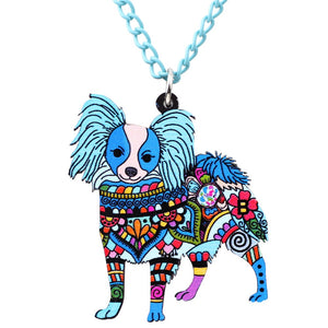 Papillon Dog Necklace - lovethepup