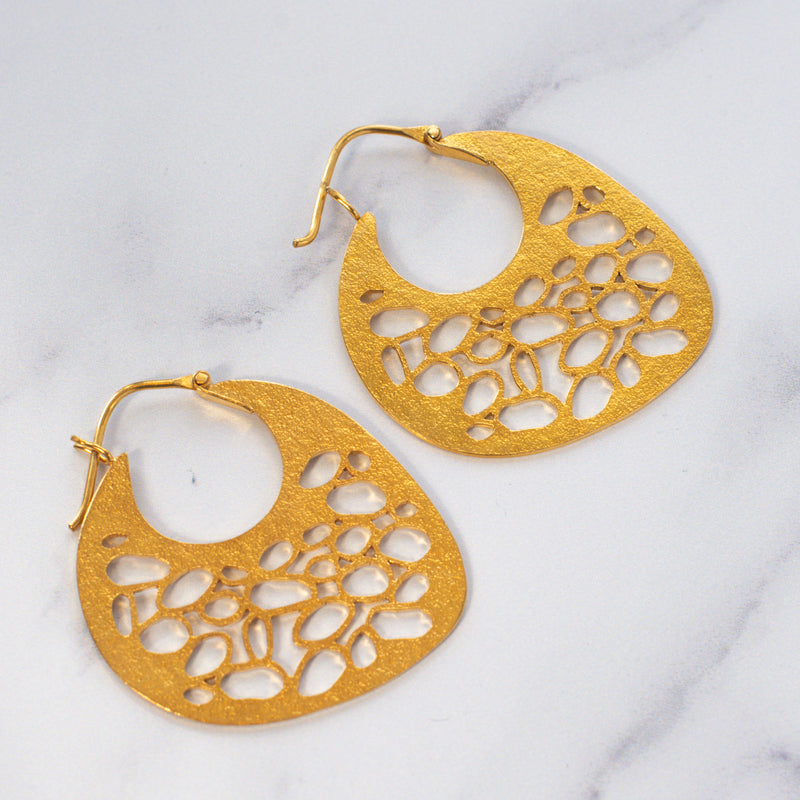 Intricate Geometry Earrings small