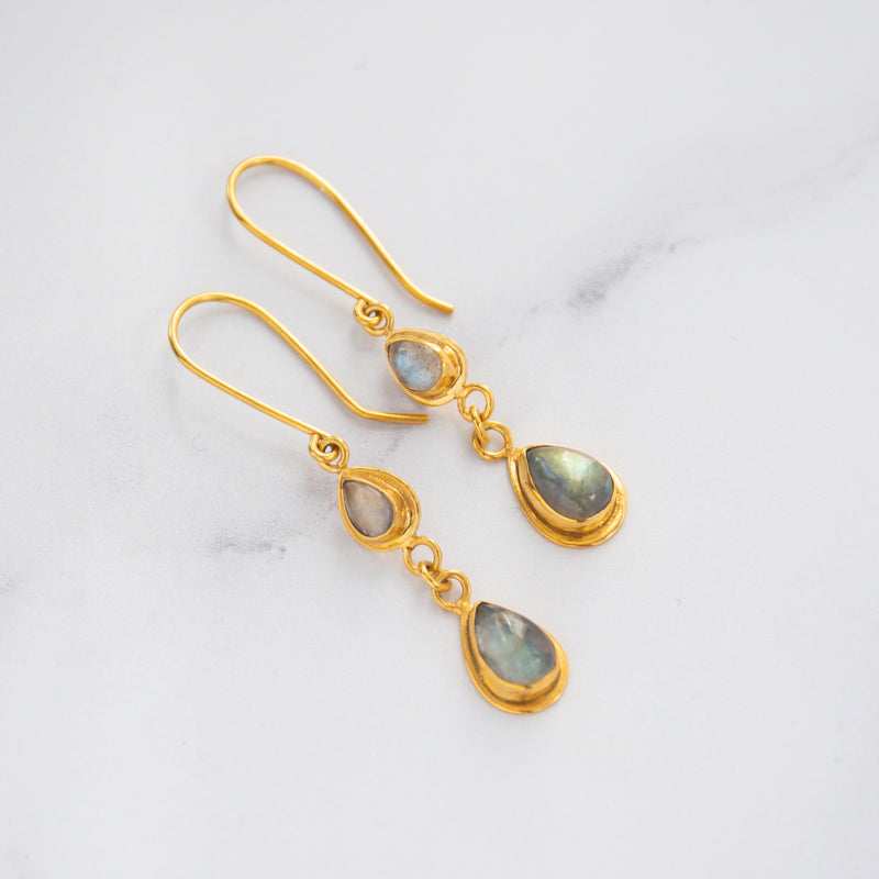 Iridescent earrings