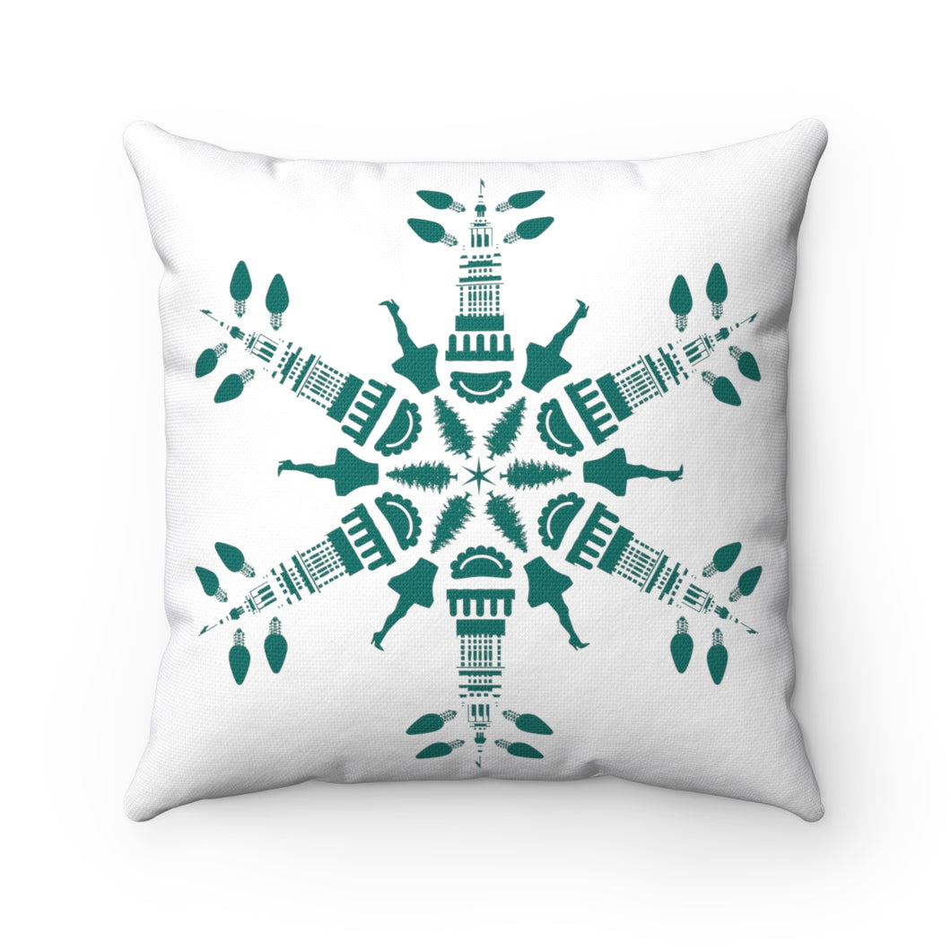 CLE FOR THE WINTER Snowflake Pillow