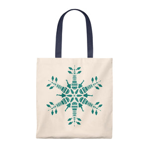CLE FOR THE WINTER Snowflake Tote Bag - Vintage