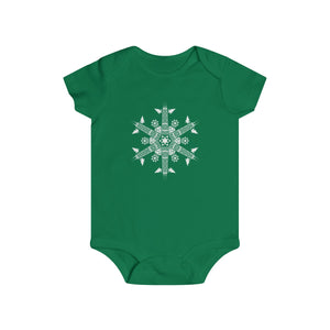 CHI FOR THE WINTER Snowflake Infant Rip Snap Tee