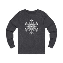 Load image into Gallery viewer, CHI FOR THE WINTER Snowflake Long-sleeve T-shirt
