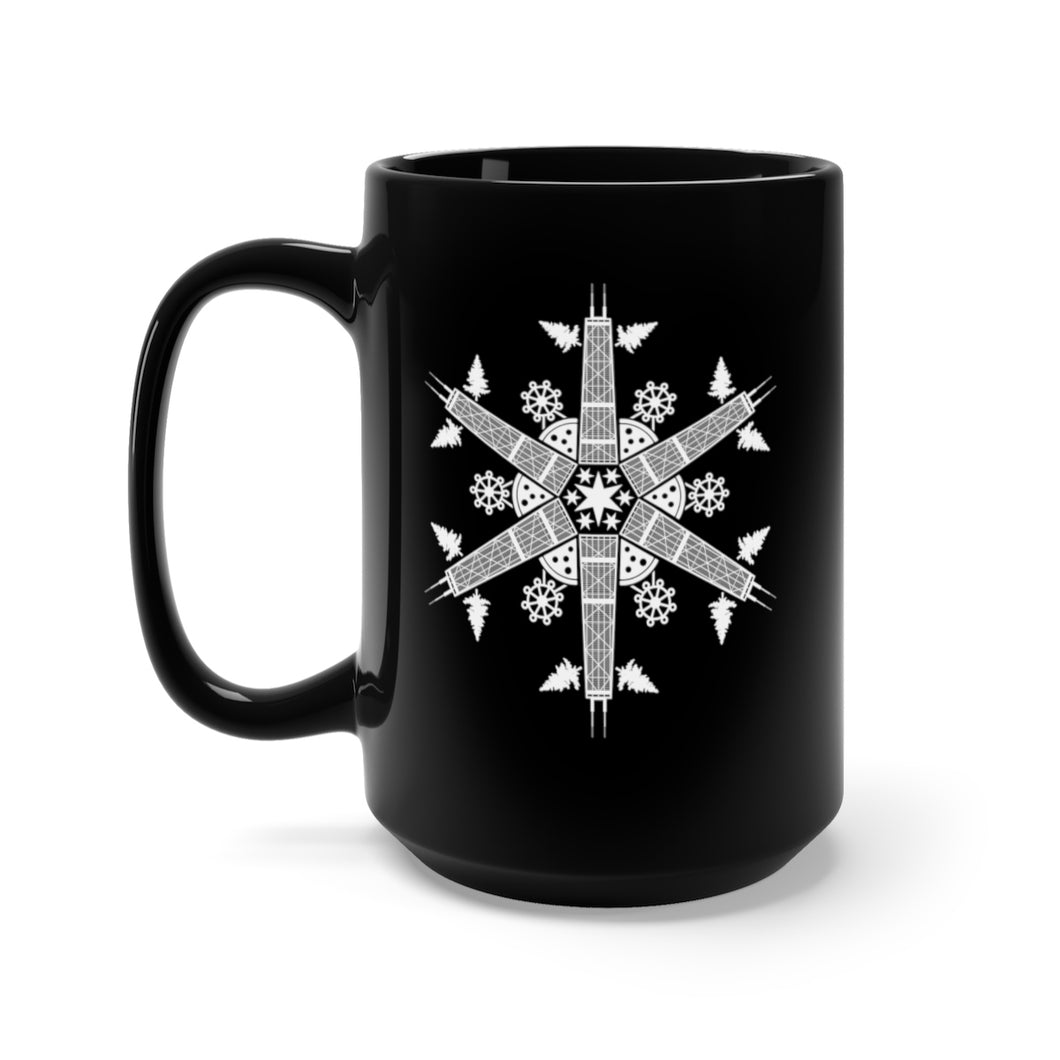 CHI FOR THE WINTER Snowflake Black Mug 15oz