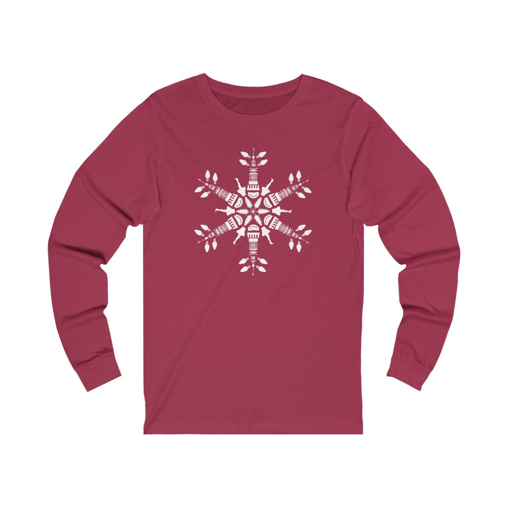 CLE FOR THE WINTER Snowflake Long-sleeve T-shirt