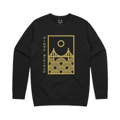 Golden Guardians Seigaiha Bridge Crewneck