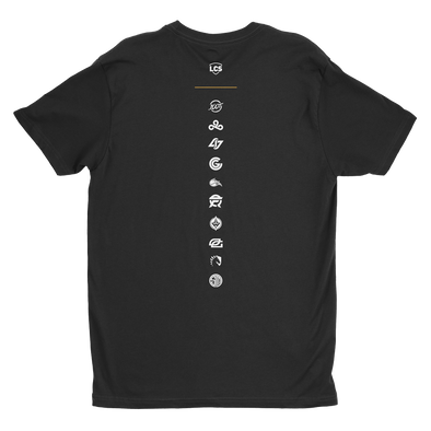 LCS 10 Teams Vertical Tee - Black