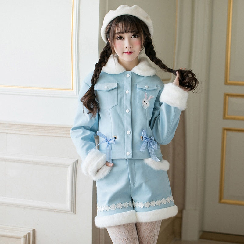 Velvet Lolita Jacket/Short set