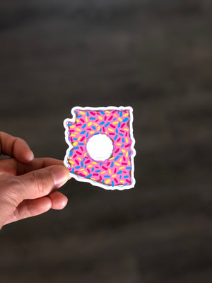 Arizona Doughnut Sticker
