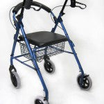 "Karman R-4608 Lightweight Rollator with Large 8"" inch Casters and Padded Seat"