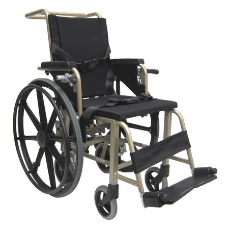 Airplane Aisle Wheelchairs - Karman KMAA20 Convertible Airplane Aisle Chair, Foot Operated 24