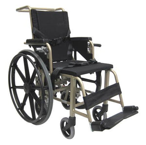 "Airplane Aisle Wheelchairs - Karman KMAA20 Convertible Airplane Aisle Chair, Foot Operated 24"" Quick Release Rear Wheels, Also Comes With 7"" Rear Wheels"