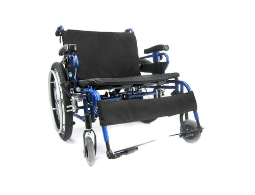 Bariatric Wheelchairs - Karman BT10 Adjustable Heavy Duty Wheelchair Diamond Black Frame