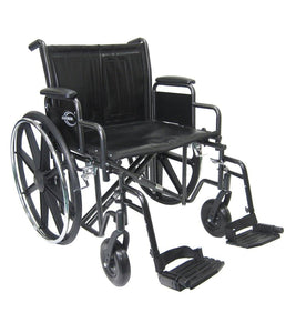 "Bariatric Wheelchairs - Karman KN-922 22"" Seat Heavy Duty Wheelchair With Removable Armrest And Adjustable Seat Height"