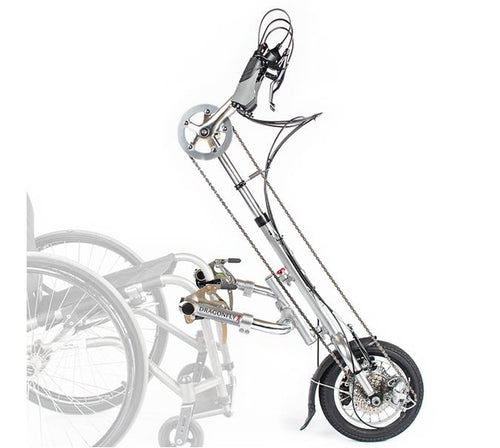 Handcycle - Rio Mobility Dragonfly Attachable Manual Handcycle