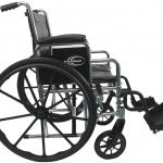 "Karman KN-920 20"" seat Heavy Duty Wheelchair with Removable Armrest and Adjustable Seat Height"