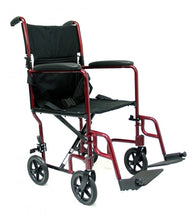 "Karman LT-2000 19"" seat 19 lbs. Lightweight Transport Chair with Removable Footrest"