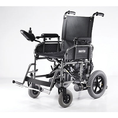 Power Wheelchairs - Merits Travel Ease Foldable Power Wheelchair P101-2S S K0822
