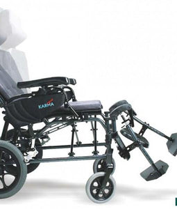 Reclining Wheelchairs - Karman MVP502 Lightweight Ergonomic Reclining Transport Wheelchair