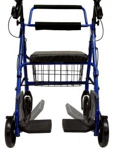 Rollators - Karman R-4602-T Rollator And Transport Combo With Flip-up Footplate And Padded Seat