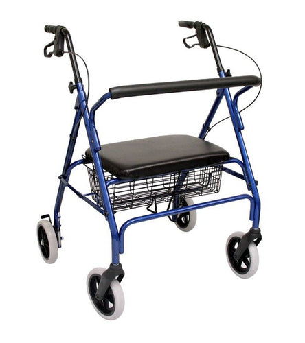 Rollators - Karman R-4700 Extra Wide Bariatric Rollator With Padded Flip-down Seat, Steel, 24 Lbs.