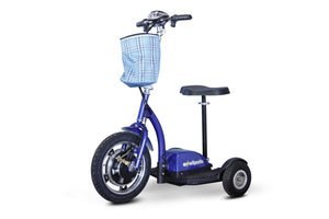 Stand And Ride Scooters - EWheels EW-18 STAND-N-RIDE Mobility Scooter 3-Wheel