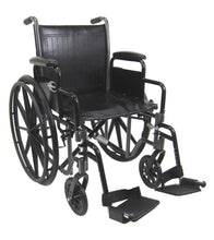 Standard Wheelchairs - Karman KN-700T Height Adujustable Seat 39 Lbs. Steel Wheelchair With Removable Armrest