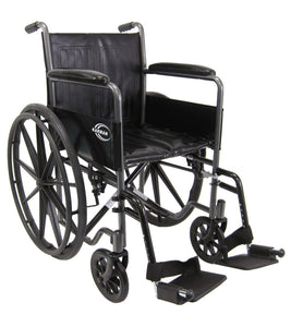 "Standard Wheelchairs - Karman KN-800T 18"" Seat 37 Lbs. Steel Wheelchair With Fixed Armrest"