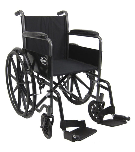 Standard Wheelchairs - Karman LT-800T 34 Lbs. Lightweight Steel Wheelchair With Fixed Armrest