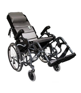"Tilt In Space Wheelchairs - Karman VIP515 Tilt In Space Lightweight Reclining Wheelchair With 20"" Inch Rear Wheels"