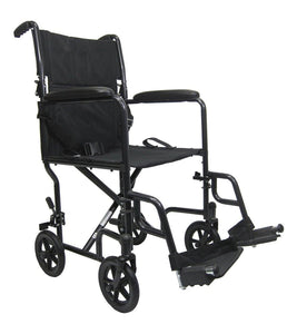 "Transport Wheelchairs - Karman LT-2017 17"" Seat 19 Lbs. Lightweight Transport Chair With Removable Footrest"