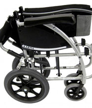 Transport Wheelchairs - Karman S-Ergo 115 Ergonomic Transport Wheelchair With Wire Break And Swing Away Footrest