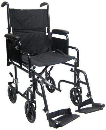 Transport Wheelchairs - Karman T-2700 Transport Wheelchair With Removable Armrest And Footrest