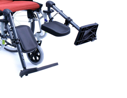 Wheelchair Accessories - Karman Elevating Legrest With Padded Calf Pad For S-115