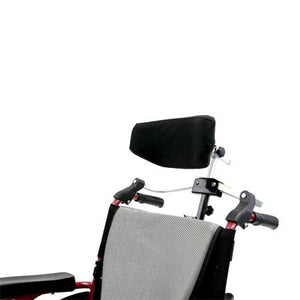"Wheelchair Accessories - Karman Foldable Rigidfy Headrest For 7/8"" Handle Frame"