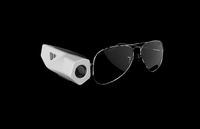 Black color Glasses With Stylish Vyoocam