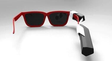 Red Color Glasses With Vyoocam