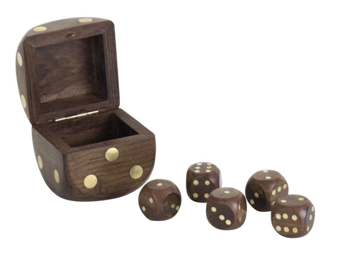 Authentic Models Brass Dice Box