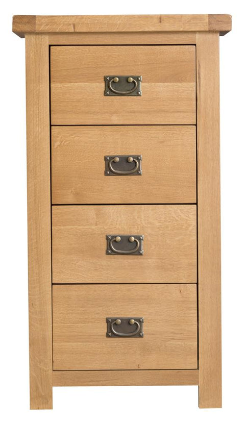 Concepts Tucson Oak 4 Drawer Narrow Chest of Drawers