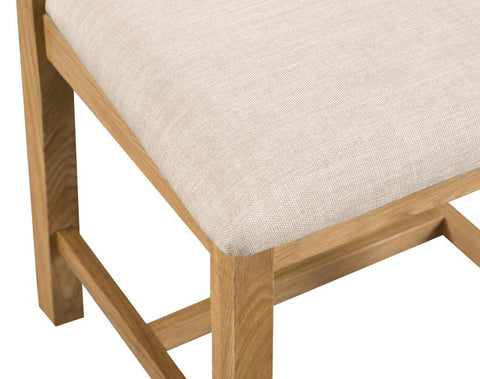 Concepts Tucson Oak Cross Back Chair Fabric Seat