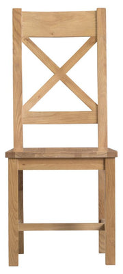 Concepts Tucson Oak Cross Back Chair Wooden Seat