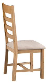 Concepts Tucson Oak Ladder Back Chair Fabric Seat