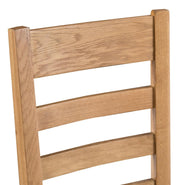 Concepts Tucson Oak Ladder Back Chair Wooden Seat